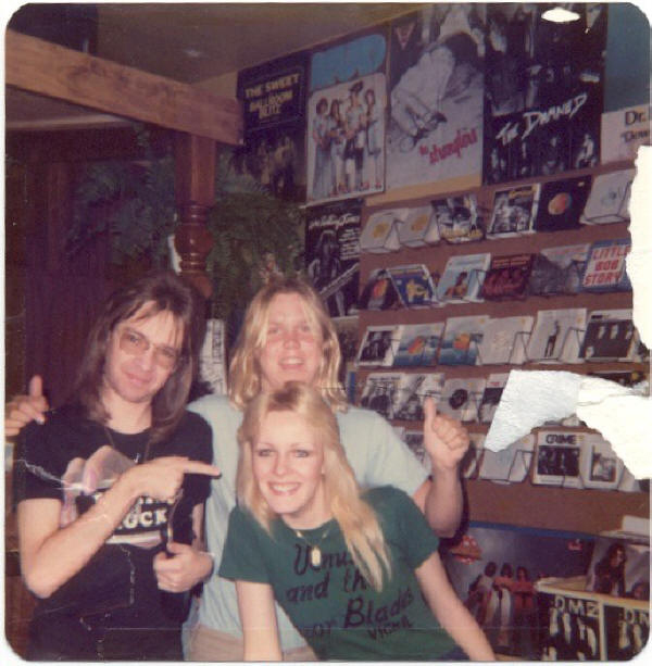Quick Draw himself with Rodney B and some awesome girl in a terrible record store!
