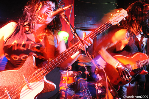 Shannon & The Clams, live Halloween 2009 at Stork Club, photo by <a href=