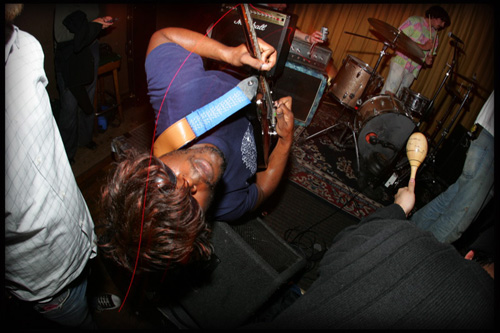 Tyvek performing at the Hemlock in San Fran., photo by <a href=